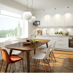 Salon z aneksem kuchennym – jak wybrać osłony okienne?