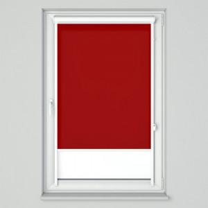 Roleta w kasecie przestrzennej z tkaniną standard jasna czerwień