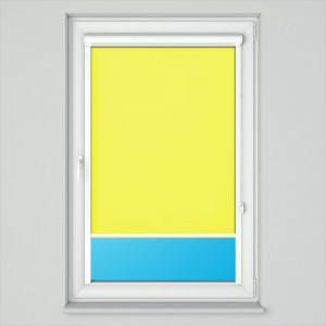 Roleta Standard w kasecie płaskiej żółty na wymiar